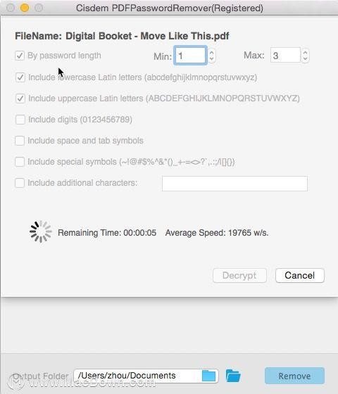 "PDF解密工具——""Cisdem PDF Password Remover""_密码"
