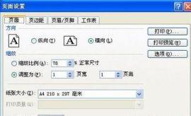 教你如何利用Excel电子表格缩放打印
