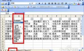 excel表格怎样实现简单的行筛选