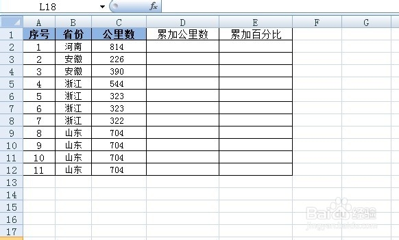 excel函数累加求和与累计百分比应用