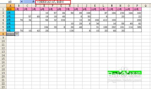 【Excel】INDEX函数制作动态图表